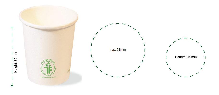 6oz SINGLE WALL HOT CUP (73mm)