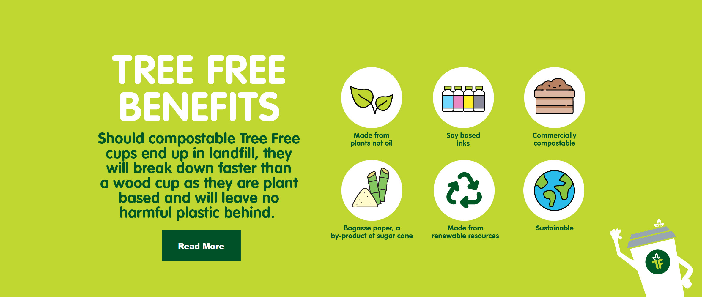 Tree Free benefits - Bagasse products